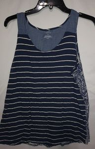Sonoma Blue White Cool Tank Sz L